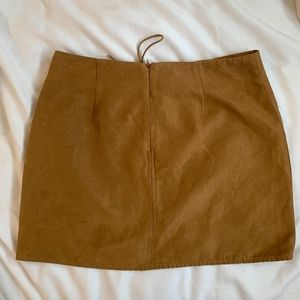 Kendall & Kylie Skirts - Kendall Kylie Tan Suede Tie - Up Skirt